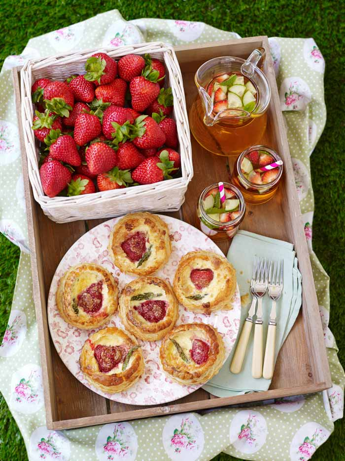 Strawberry and Asparagus Quiche