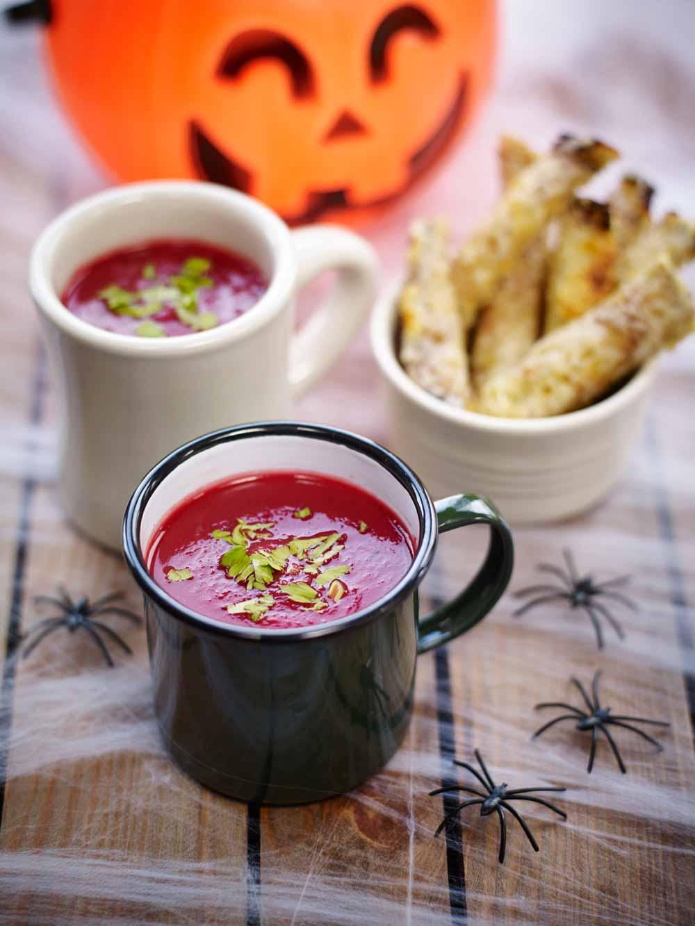 Beetroot & pumpkin soup