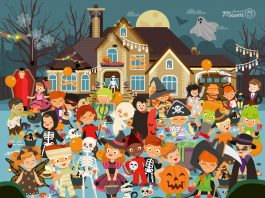 Can you spot the 10 pumpkins hidden in this Halloween Puzzle?